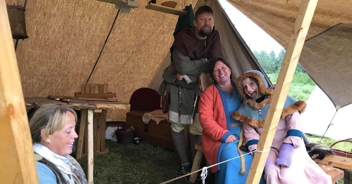 Vargfot Vikinglag på Lofotr Vikingfestival 2018. Foto: Lofotr Vikingmuseum